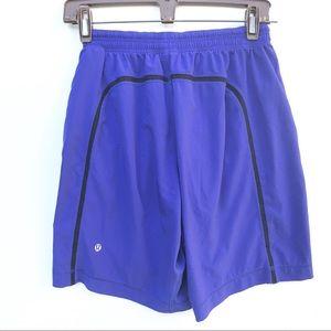 LULULEMON Pace setter Purple Shorts small liner s